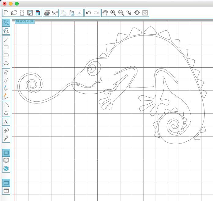 Silhouette Design Chameleon